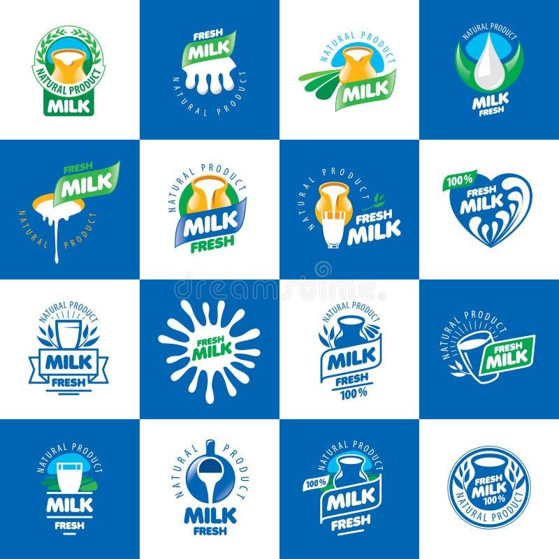 Logo de lait de vecteur illustration libre de droits