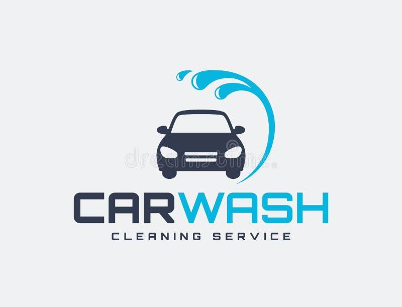 Logo de lave-auto illustration libre de droits