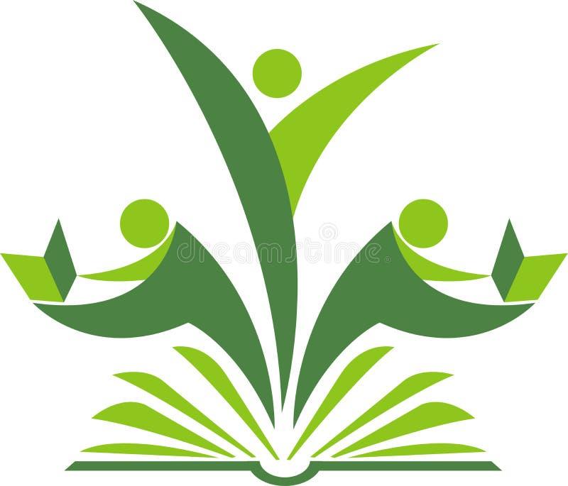 Logo de lecteur de livre illustration libre de droits