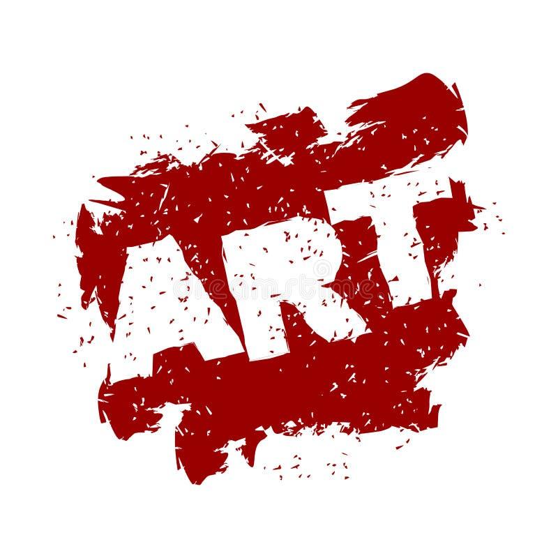 Logo de lettrage d'art dans le style grunge Jet et éraflures Ébruitez a illustration stock