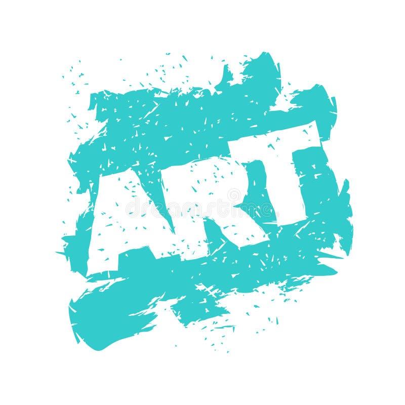 Logo de lettrage d'art dans le style grunge Jet et éraflures Ébruitez a illustration libre de droits