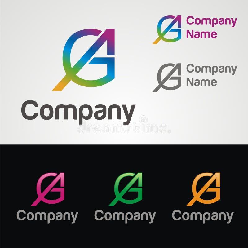 Logo de lettre de GA photo libre de droits