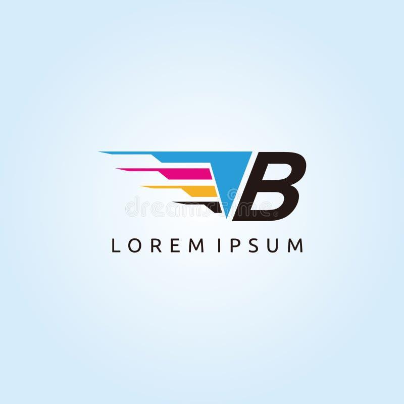 Logo de lettre de la technologie B CMYK d'impression de Digital illustration de vecteur