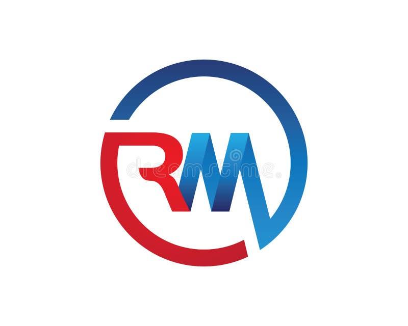 Logo de lettre de RM illustration stock