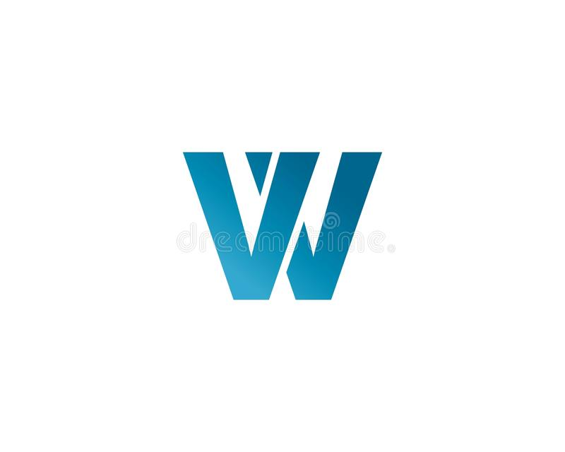 Logo de lettre de W illustration stock
