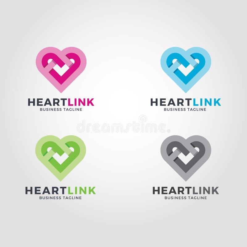 Logo de lien de coeur illustration libre de droits