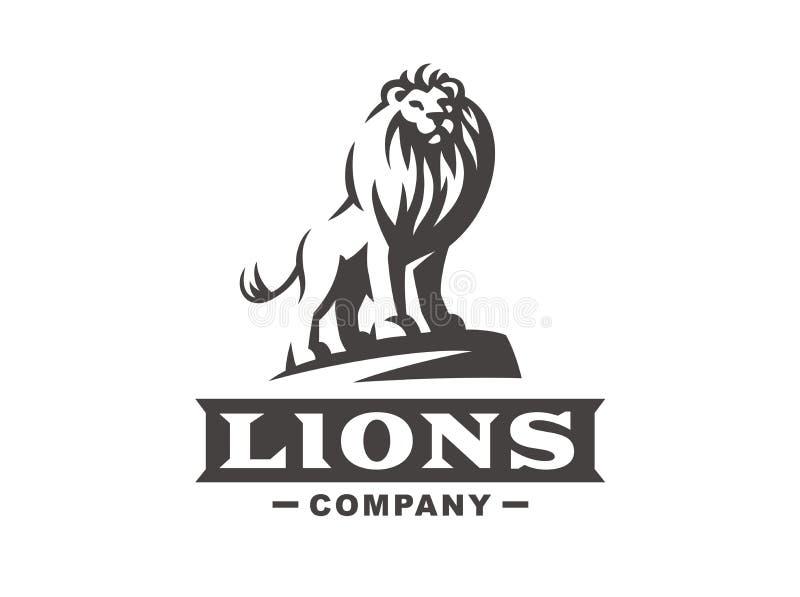 Logo de lion - dirigez l'illustration, conception d'emblème illustration de vecteur