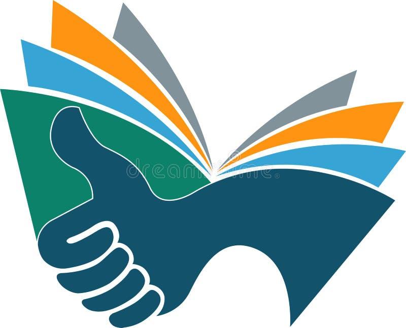 Bien-aimé Logo de livre de main illustration de vecteur. Image du marque  NW82