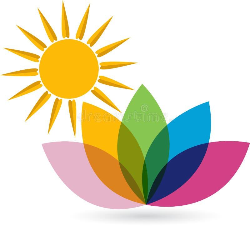 Logo de lotus illustration de vecteur