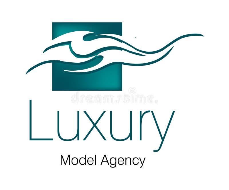 Logo de luxe d'agence modèle illustration de vecteur