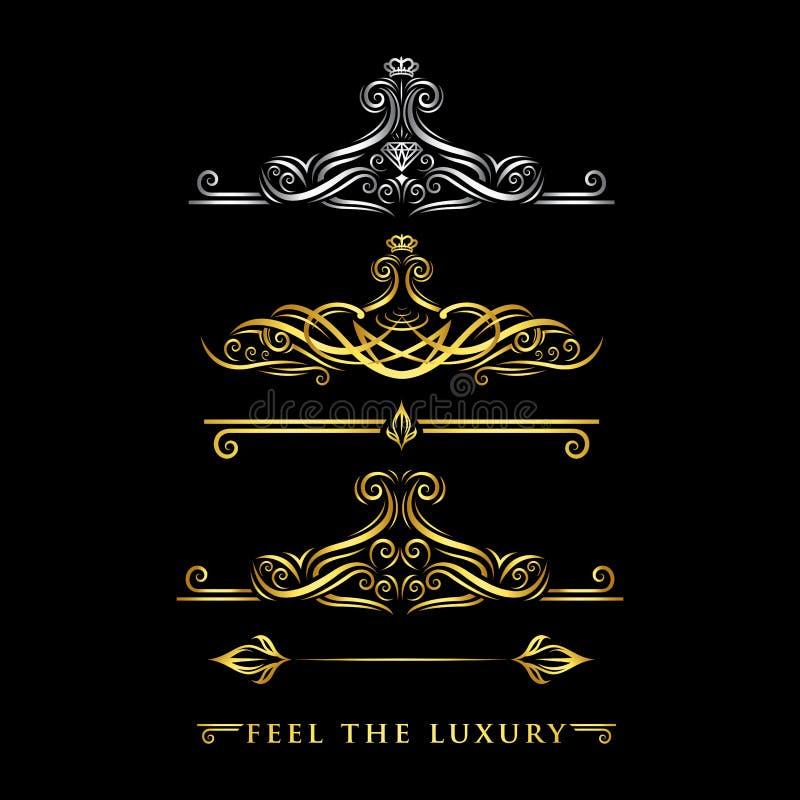 Logo de luxe d'ornement - vecteur image stock