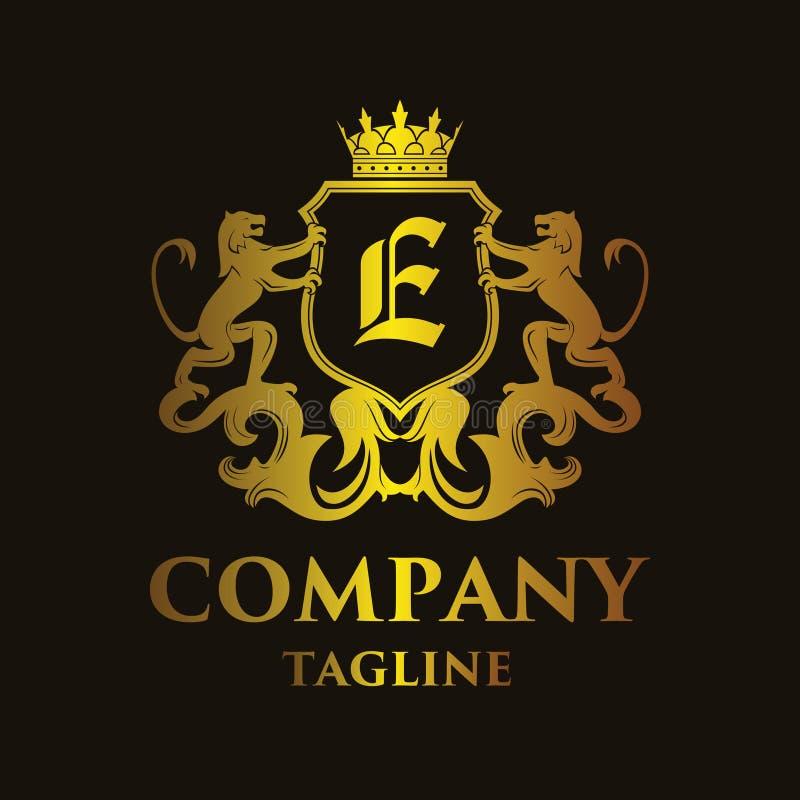 Logo de luxe de ` du ` E de lettre illustration libre de droits