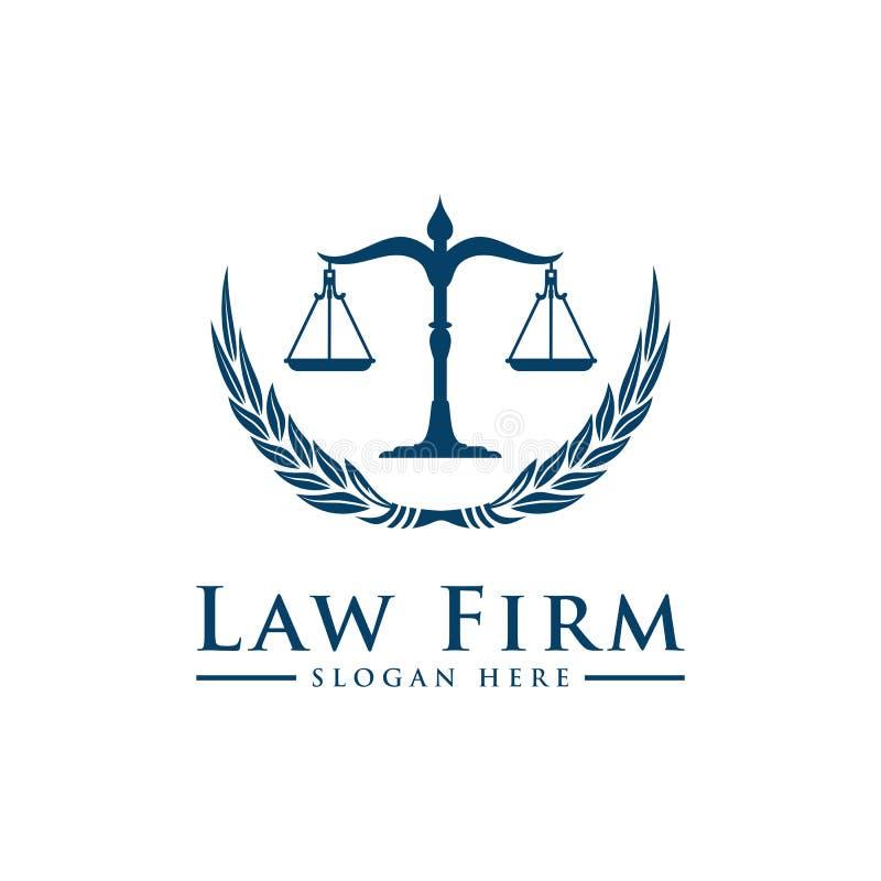 Logo de luxe de loi de vintage illustration stock