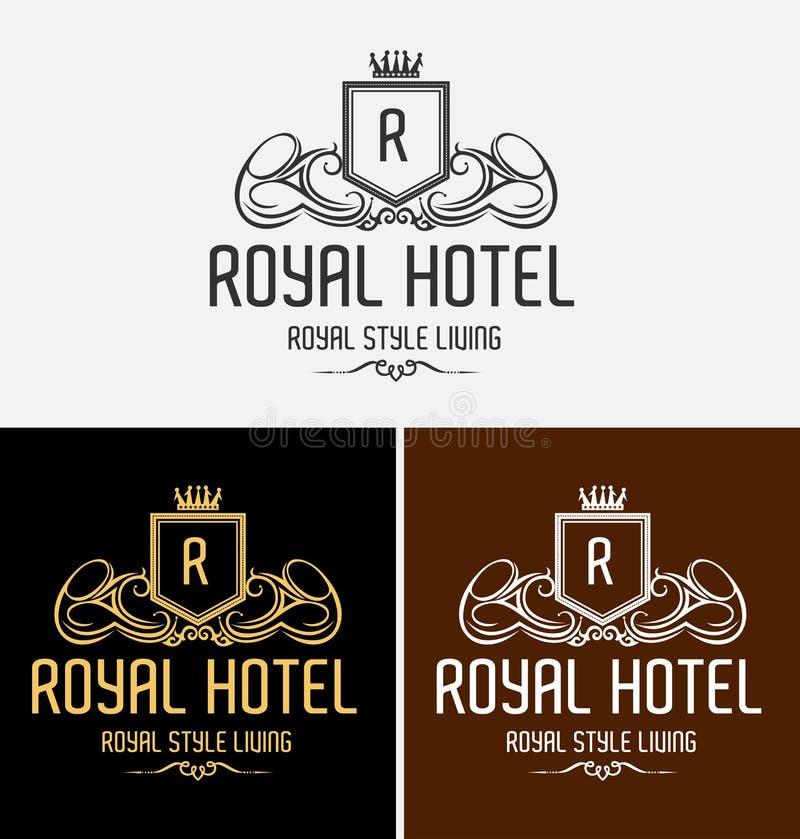 Logo de luxe royal de crête photographie stock
