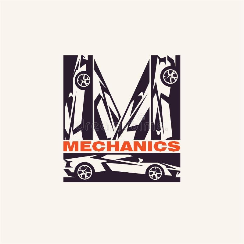 Logo de mécanique de voiture illustration stock