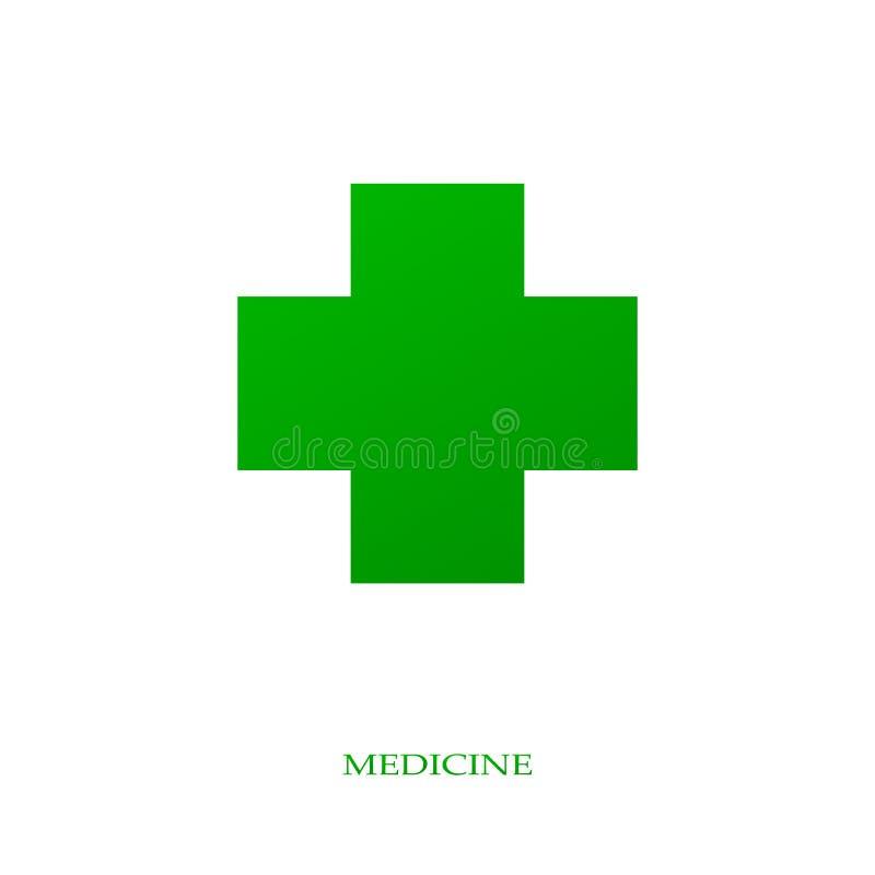 Logo de médecine brut illustration libre de droits