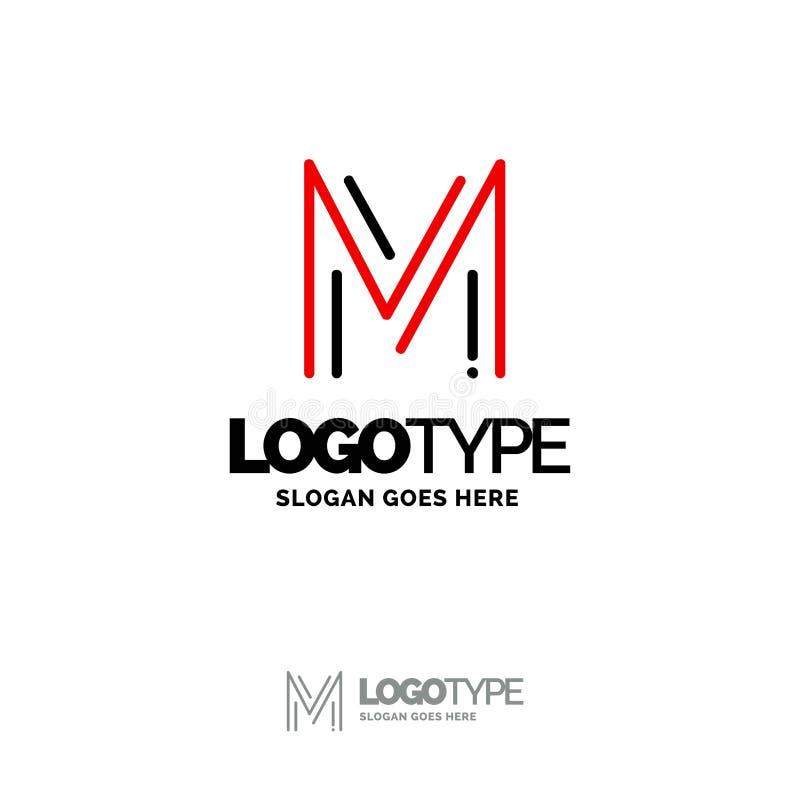 Logo de M Digital Logo Template Calibre noir et rouge de logo, technologie illustration de vecteur