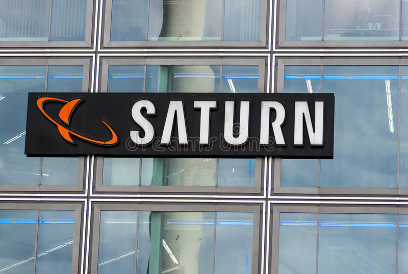 Logo de magasin de Saturn photographie stock libre de droits