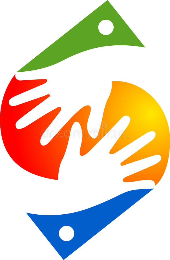 Logo de main illustration stock
