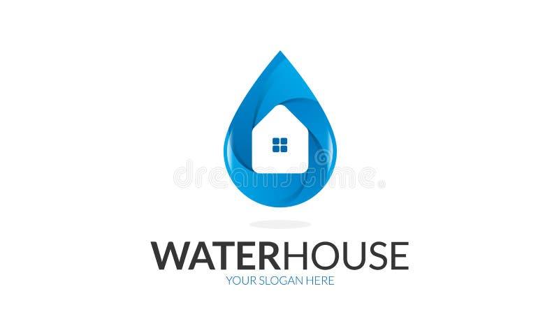 Logo de maison de l'eau illustration de vecteur