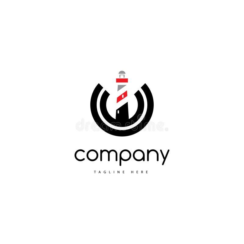 Logo de maison légère illustration stock