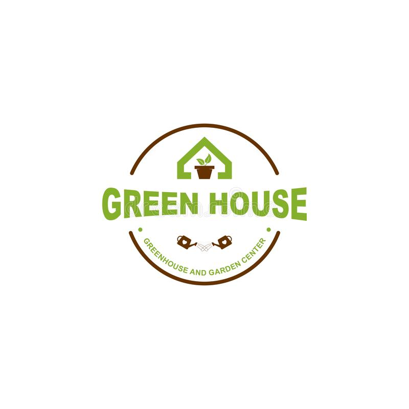Logo de maison verte illustration stock