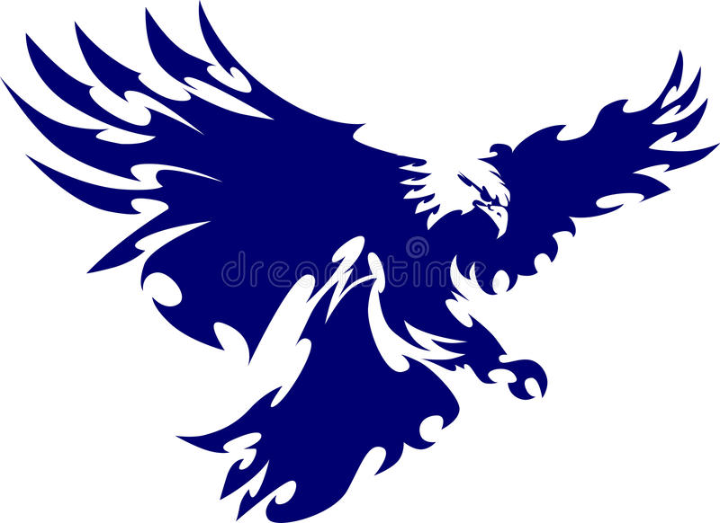 Logo de mascotte d'insigne d'aigle illustration stock