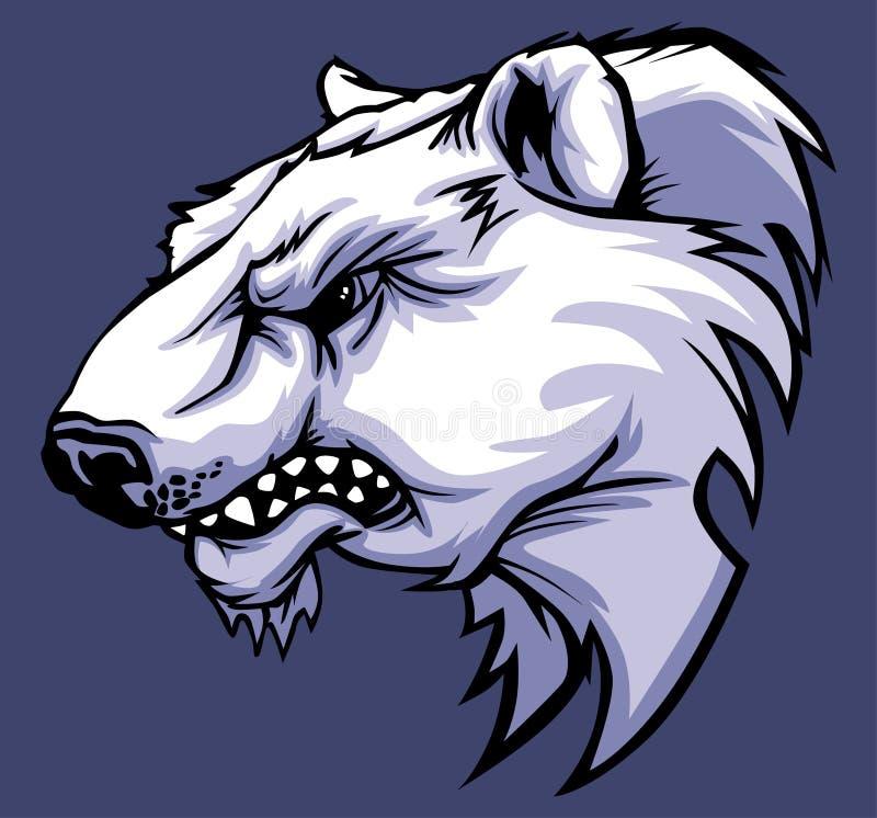 Logo de mascotte d'ours blanc illustration de vecteur