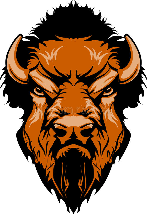 Logo de mascotte de Buffalo illustration de vecteur