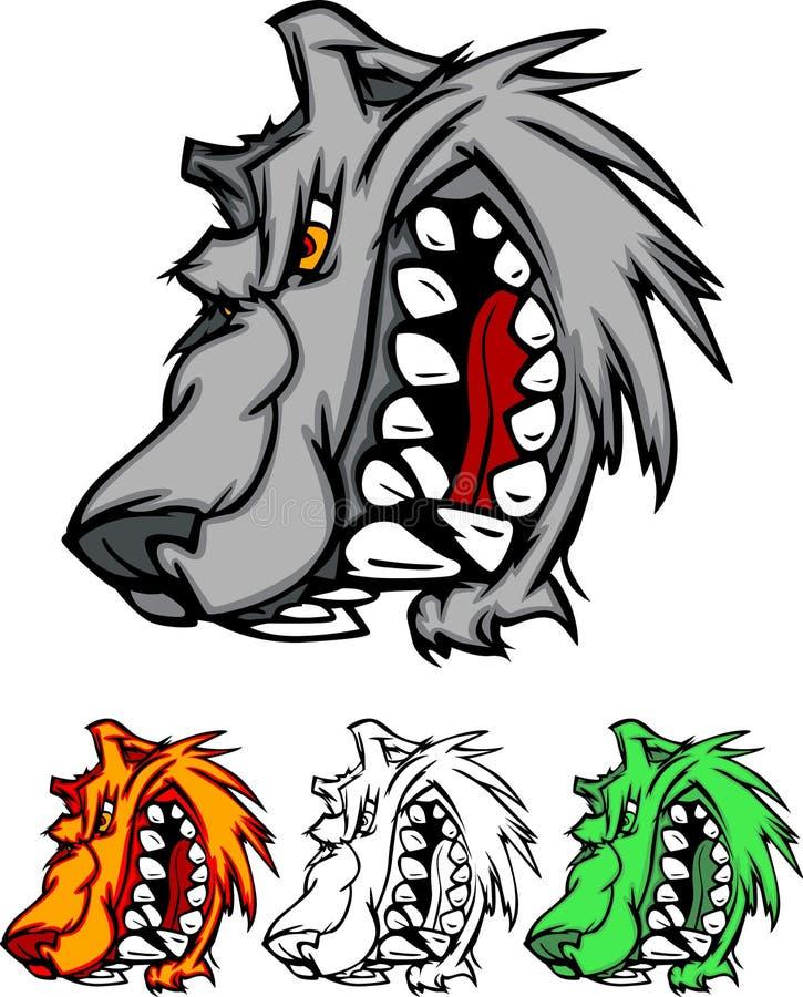 Logo de mascotte de loup illustration stock