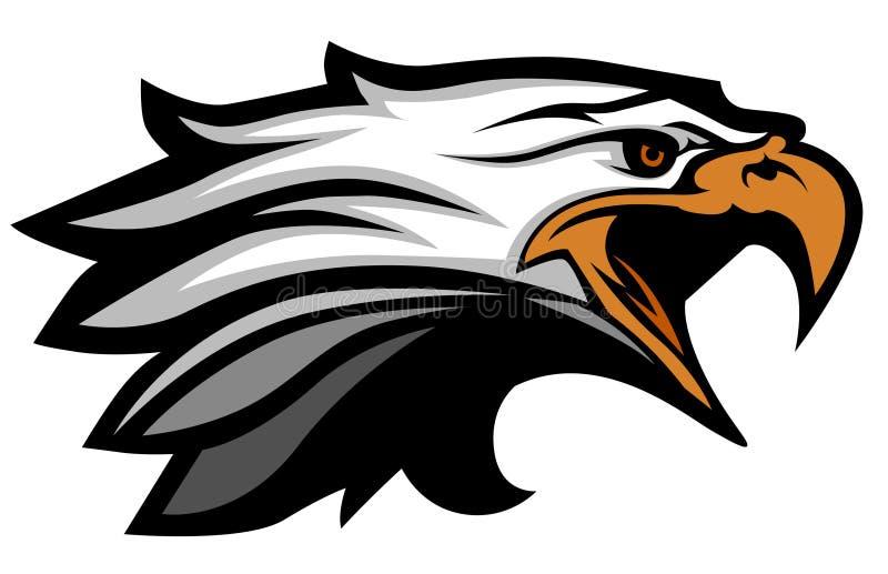 Logo de mascotte de tête d'aigle de vecteur illustration stock