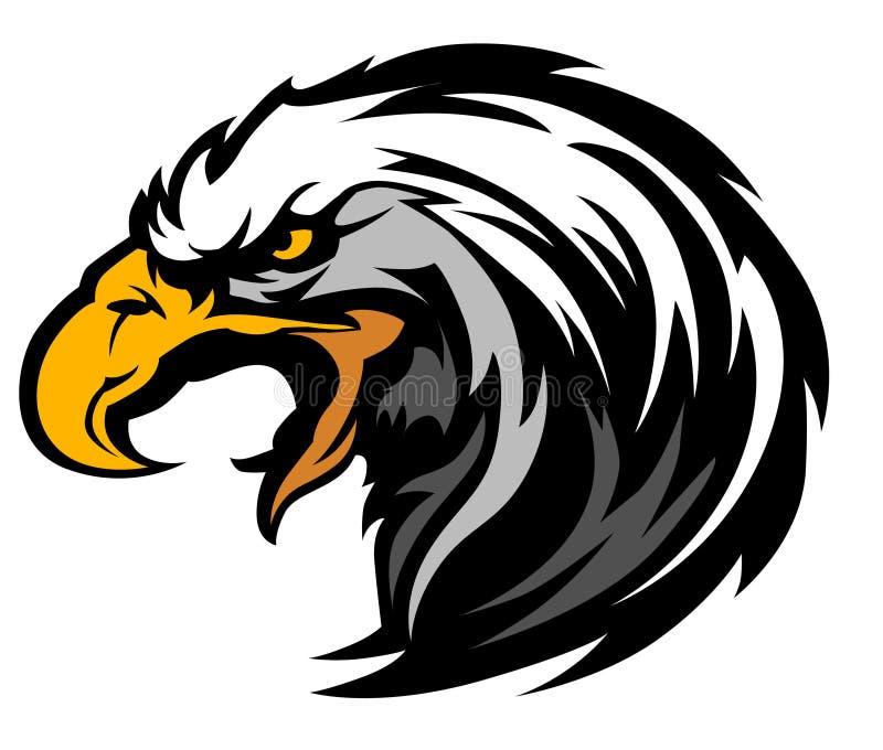 Logo de mascotte de tête d'aigle de vecteur