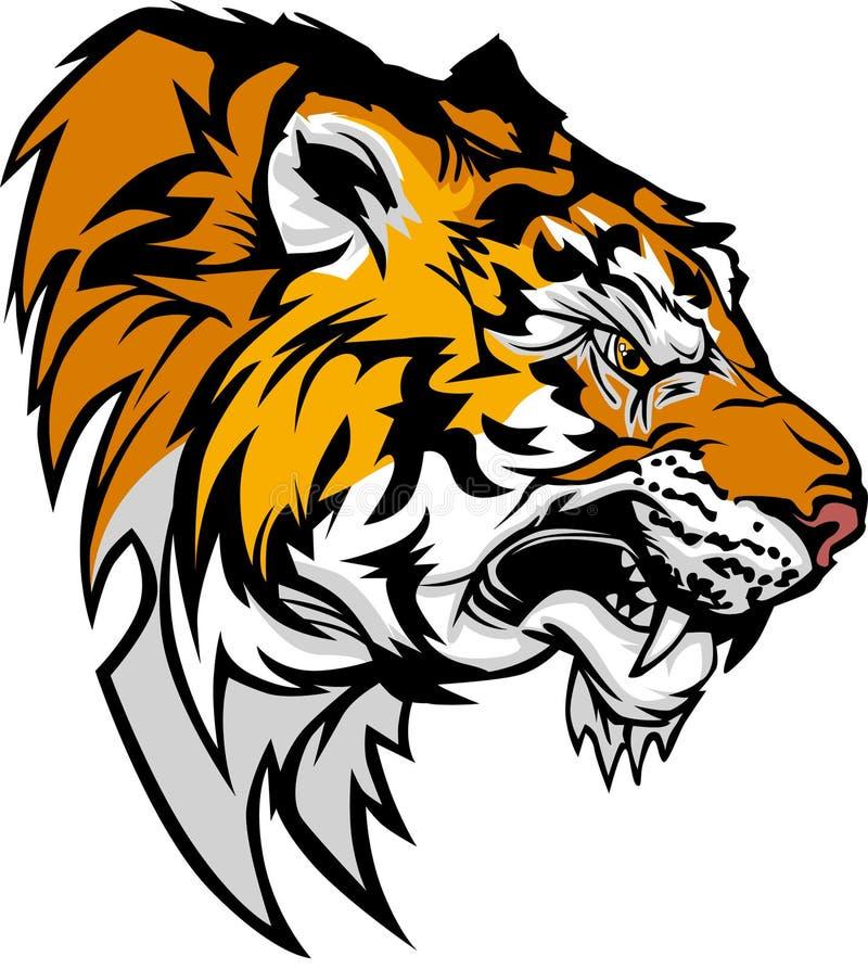 Logo de mascotte de tigre illustration stock