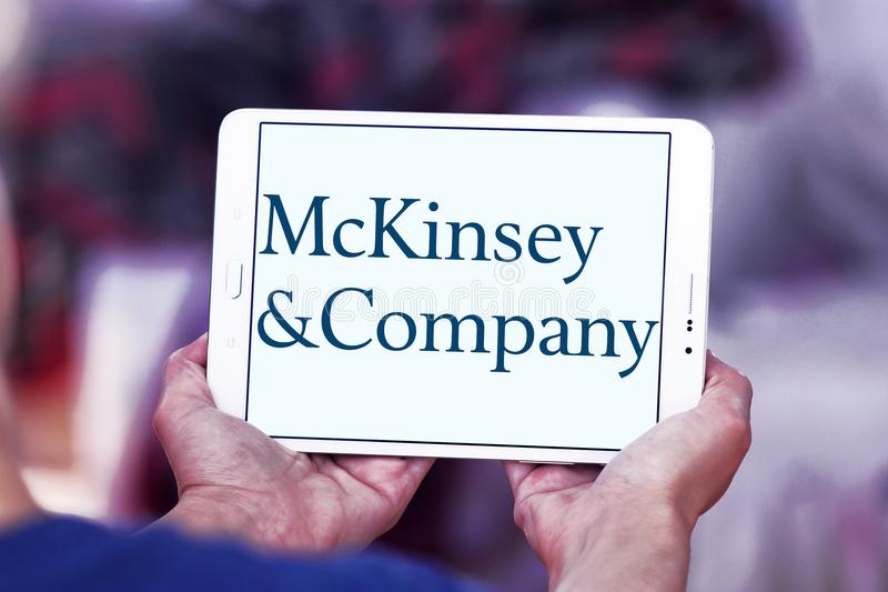 Logo de McKinsey & Company photographie stock