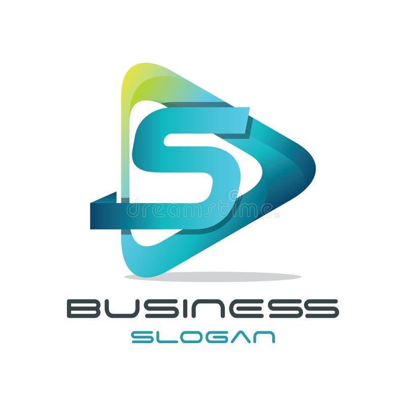 Logo de media de la lettre S illustration libre de droits