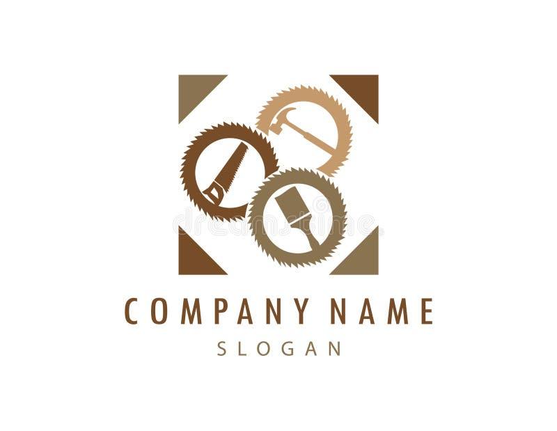 Logo 2 de menuiserie illustration de vecteur