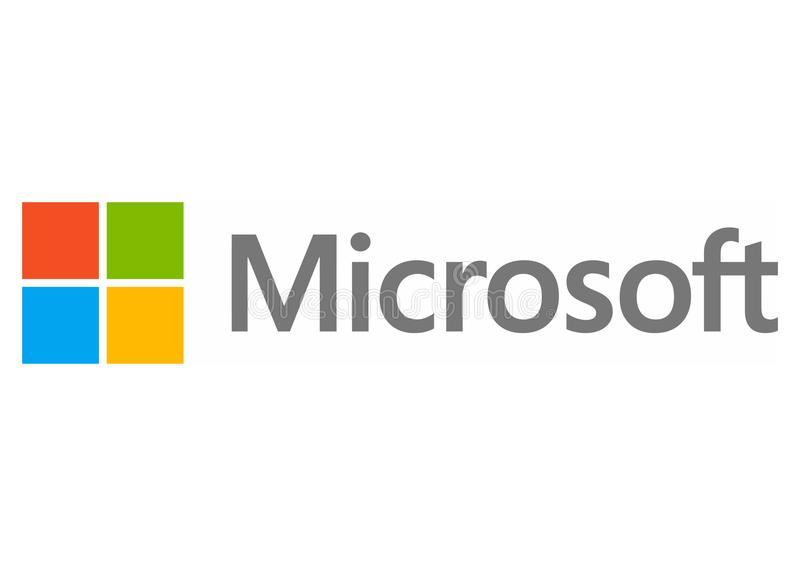 Logo de Microsoft illustration libre de droits