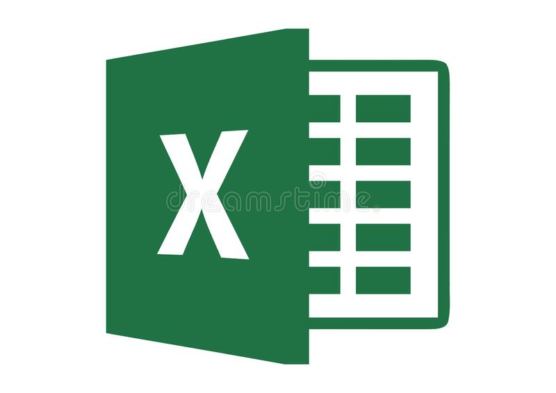Logo 2013 de Microsoft Excel illustration libre de droits