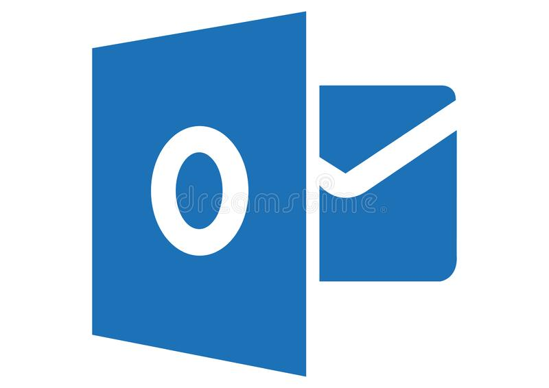 Logo 2013 de Microsoft Outlook illustration stock