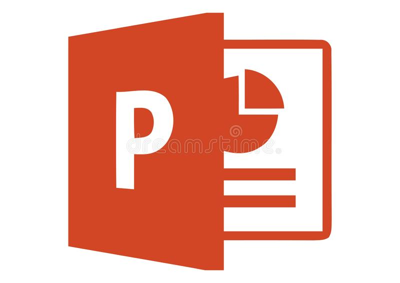 Logo 2013 de Microsoft PowerPoint illustration de vecteur