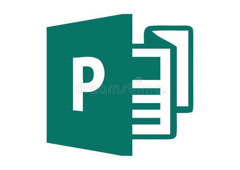 Logo 2013 de Microsoft Publisher illustration stock