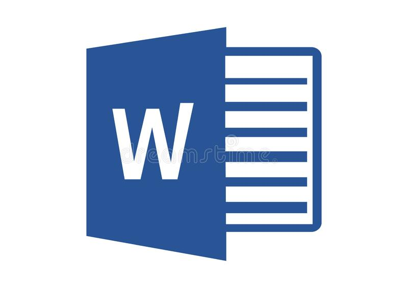 Logo 2013 de Microsoft Word illustration stock