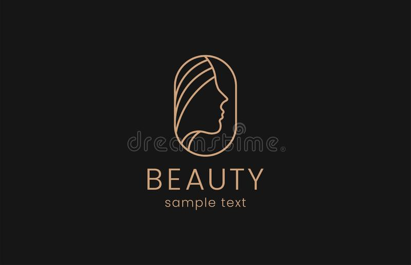 Logo de mode de femme de beauté image stock