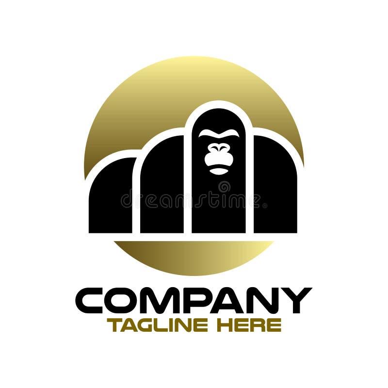 Logo de Moder gorilla Illustration vectorielle illustration stock