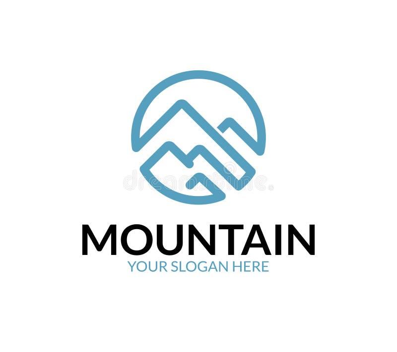 Logo de montagne illustration de vecteur