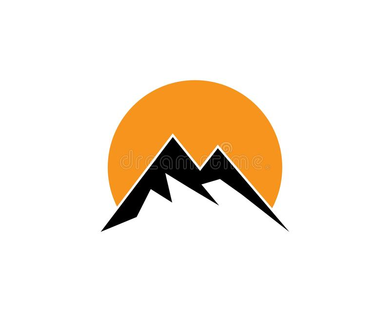 Logo de montagne illustration libre de droits