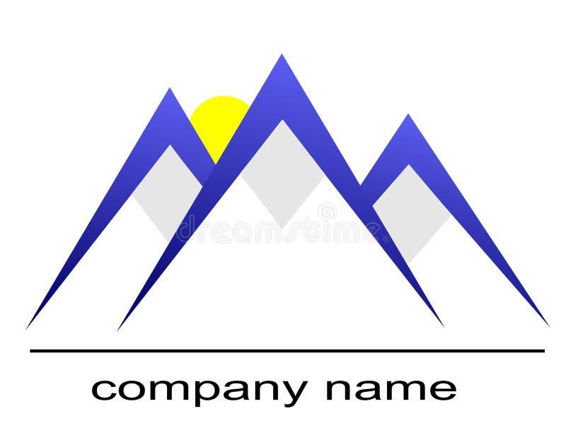 Logo de montagne de glace illustration de vecteur
