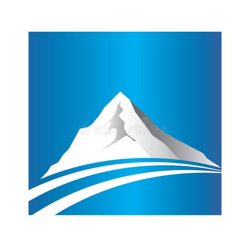 Logo de montagne et de route illustration de vecteur