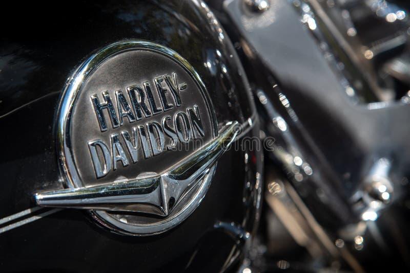 Logo de moto Harley Davidson images libres de droits