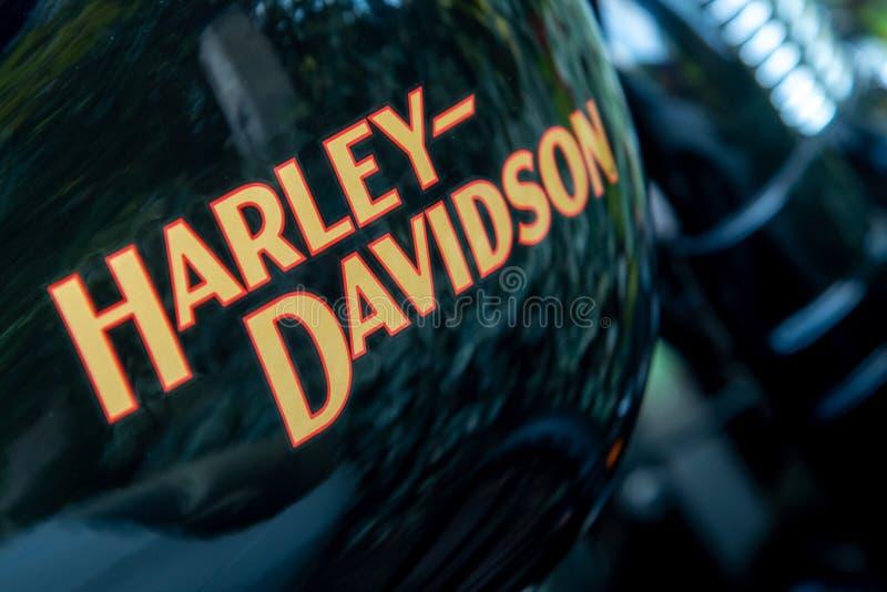 Logo de moto Harley Davidson image stock